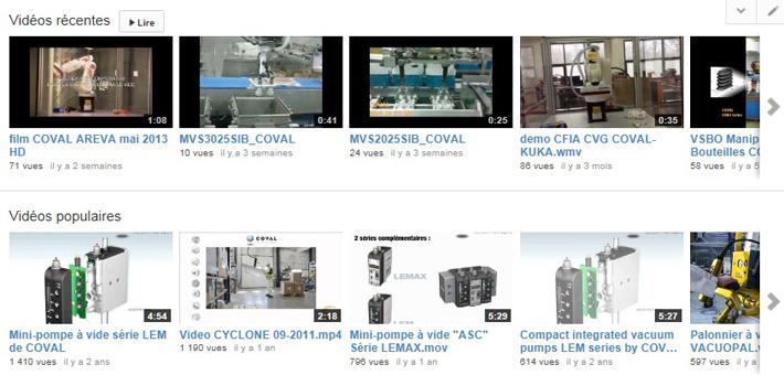 Application videos of vacuum handling