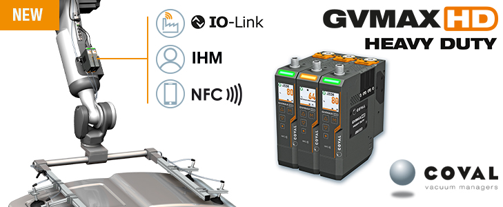 The new communicating vacuum pumps series GVMAX HD Heavy Duty from COVAL