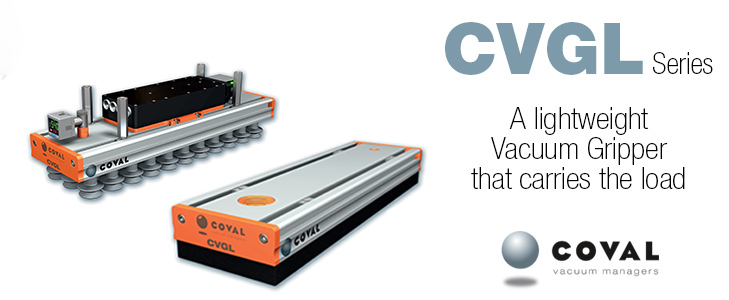 Compact and Light Vacuum Grippers, CVGL Series COVAL