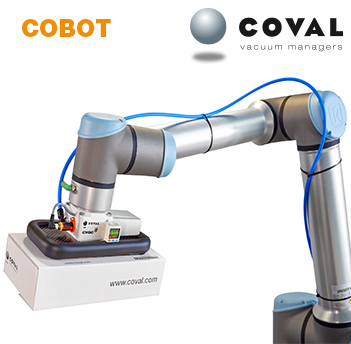 Vacuum handling specifically designed for collaborative robots (Cobots)