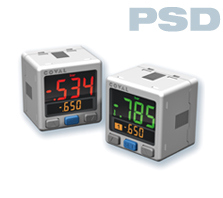 Vacuum switch 3-colour display PSD COVAL