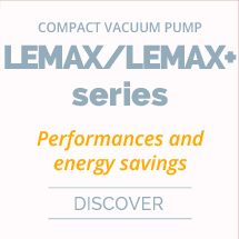 Compact, high flow vacuum pump with air saving control LEMAX+ series+